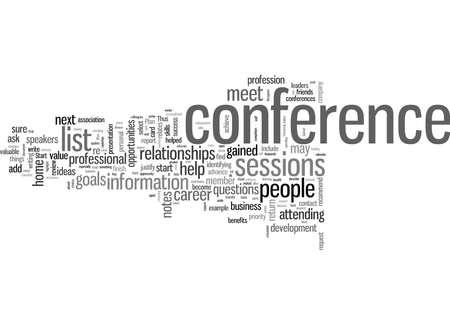Hoe u het meeste uit uw volgende conferentie kunt halen Vector Illustratie