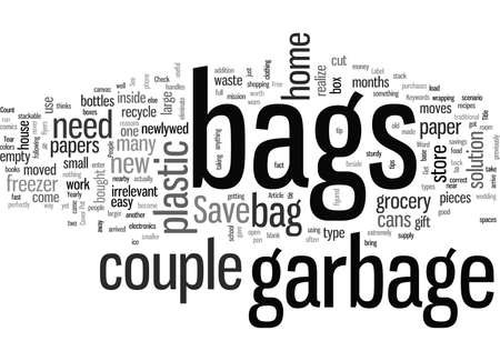 Cómo conseguir bolsas de basura gratuitas Ilustración de vector