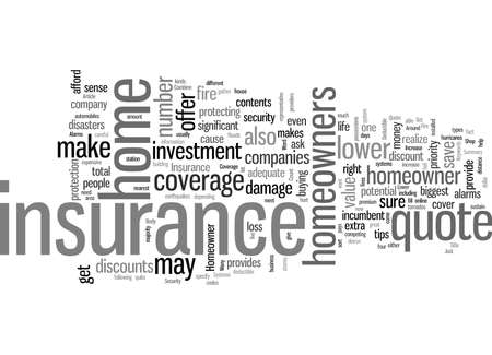 How To Get A Lower Homeowner Insurance Quote Illustration