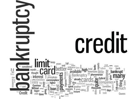 How To Raise Your Credit Score After A Bankruptcy 向量圖像