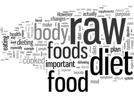 How To Get Started On A Raw Food Diet  イラスト・ベクター素材