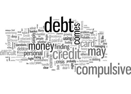 If You Have Big Credit Card Debt Are You A Complusive Debtor