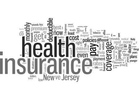 How To Get The Best Rates On Health Insurance In New Jersey 矢量图像