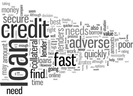 How To Get An Adverse Credit Fast Loan Vector Illustration