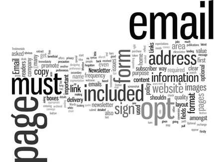 Cómo optimizar la opción de correo electrónico Ilustración de vector