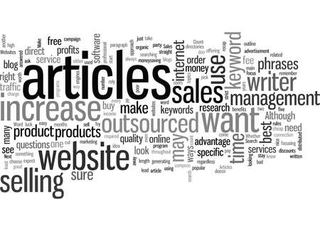 How to Increase Your Sales with Outsourced Articles Ilustração