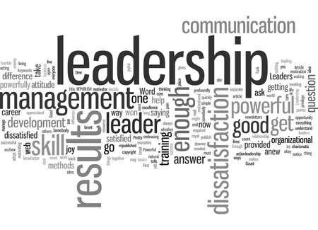 En leadership, assez bien est assez mauvais Vecteurs