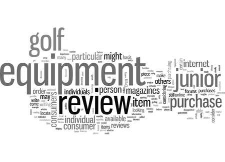 Junior Golf Equipment Review 向量圖像