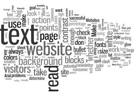Increase The Readability Of Your Website In Easy Steps Stock Illustratie