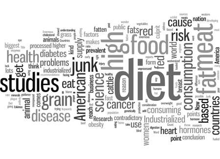 Industrialized Countries Use American Diet Based On Junk Science Illustration