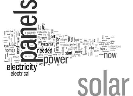 JD Solar Panels Power for Homes Stock Illustratie