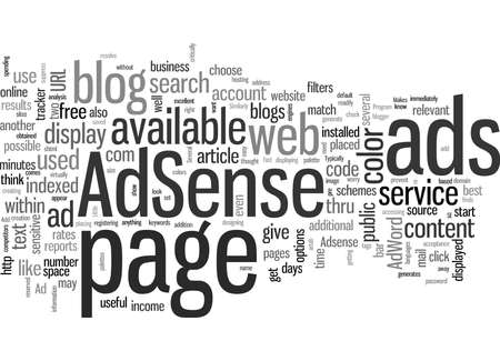 It Makes Sense to Add AdSense to Your Blog Archivio Fotografico - 132375282