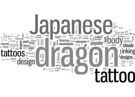 Japanische Drachen Tattoo Bedeutungen Vektorgrafik