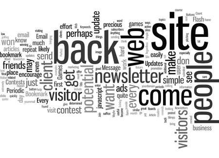 Increase Web Site Visitor Return Rates Vecteurs