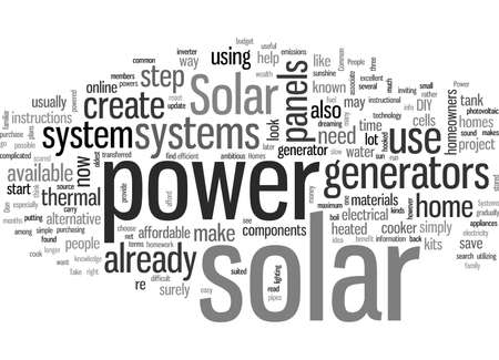JD Common Solar Power Systems for Homes Vettoriali
