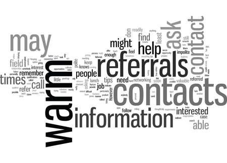 JH Try and get two referrals from each contact