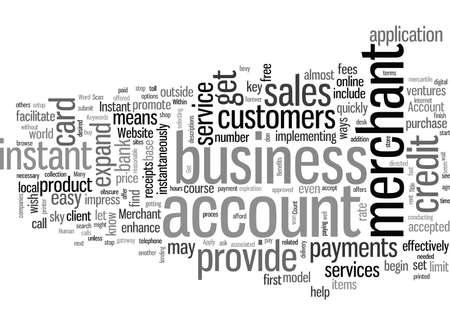 Instant Merchant Account Benefits Foto de archivo - 132376061