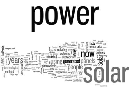 JD Facts on Solar Power Illustration