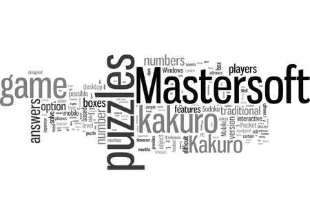 Rompecabezas de Kakuro de Mastersoft Ilustración de vector