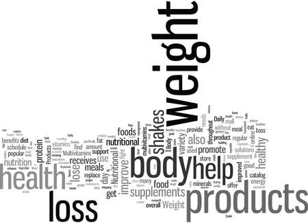 Improve Body Health with Convenient Weight Loss Products 向量圖像