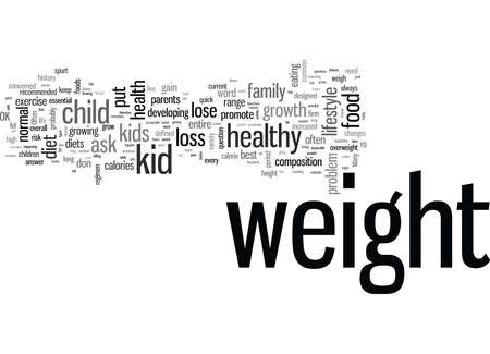 ¿Está bien poner a mi hijo a dieta? Ilustración de vector