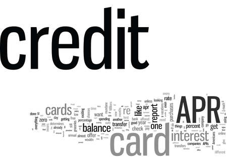 It s Easy To Find A APR Credit Card Illustration