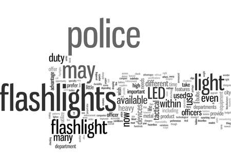 Improved LED Flashlights for Law Enforcement Stok Fotoğraf - 132379132