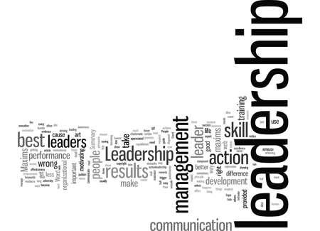 Leadership Maxims