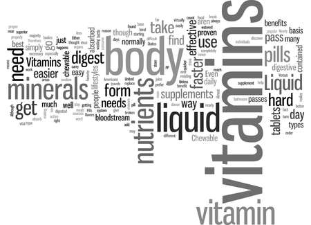 Liquid Vitamins Versus Chewable Vitamins Иллюстрация