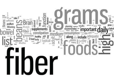 List Of High Fiber Foods And Fiber Content