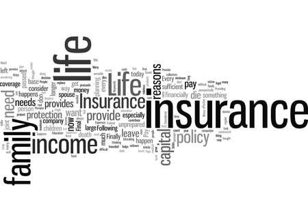 Life Insurance Why Do I Need It 版權商用圖片 - 132384167