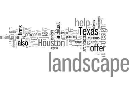 landscape architect houston Texas Illustration