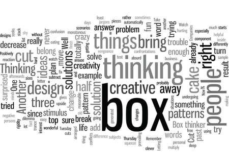 learn to think outside the box dlvy Vektoros illusztráció