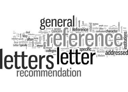 Letters of Reference Defined