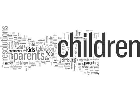 Résolutions du Nouvel An pour les parents Vecteurs