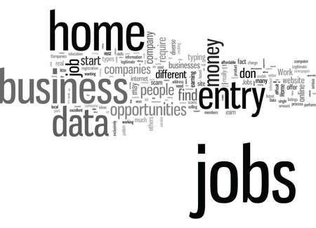 Legitimate data entry jobs