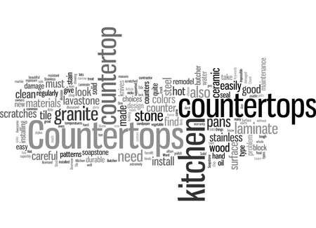 Encimeras de cocina Una descripción general Ilustración de vector