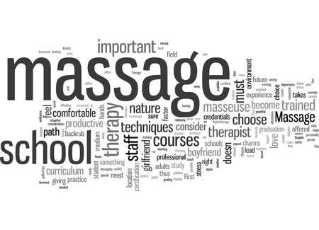 Massageschool Vector Illustratie
