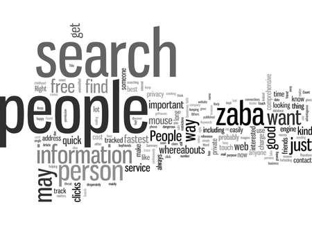 Mantente en contacto con la gente Buscar Zaba