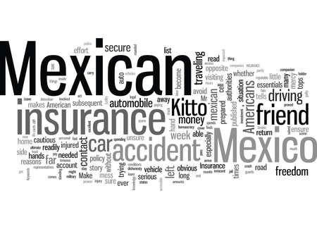 Mexican Car Insurance Don t Leave Home Without It Illustration