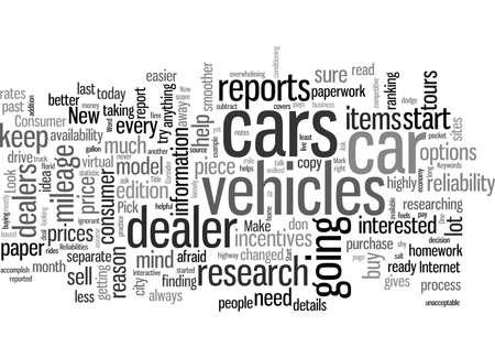 New Car Research Ilustração