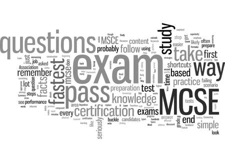 Learn The Fastest Way To Pass MCSE Exam
