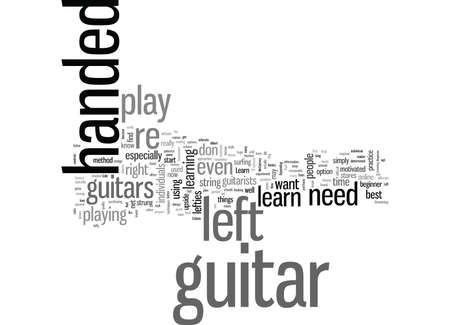 learn how to play the guitar left handed  イラスト・ベクター素材