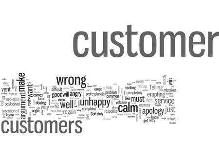 Seven Behaviors That Cause Problems With Angry Customers Illustration