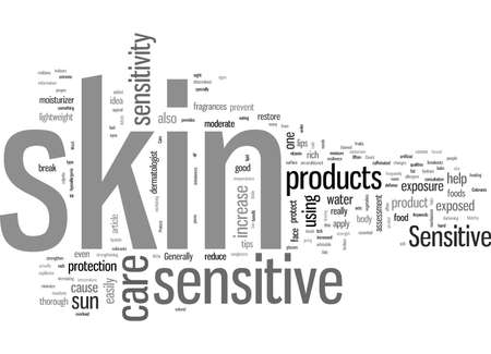 Sensitive Skin Care Tips 向量圖像
