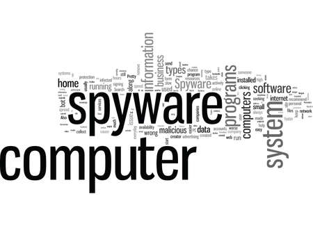 Spyware The Enemy To You And Your Computer 向量圖像