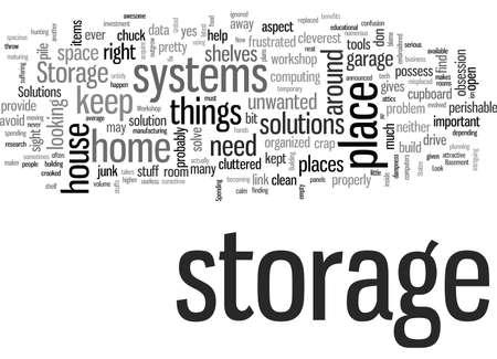 Soluciones y sistemas de almacenamiento Ilustración de vector