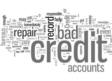 Seven Important Tips For Credit Repair Stock Illustratie