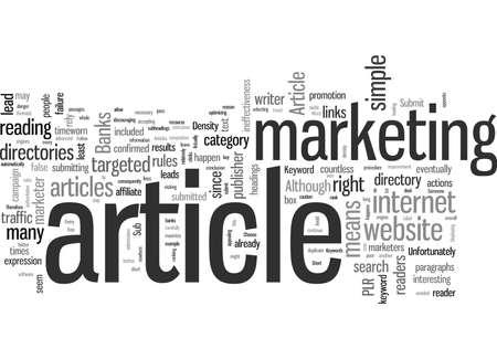 Envíe su artículo a directorios de artículos Ilustración de vector