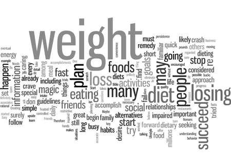 Perte de poids réussie en cinq étapes faciles Vecteurs